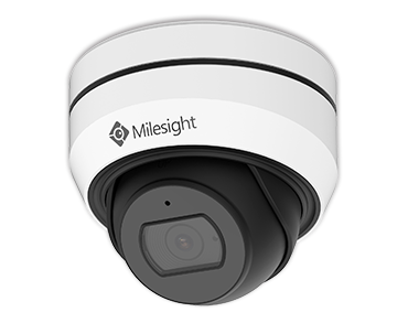 Milesight mini vandal dome kamera med variabel zoom, 5,0MP hvid