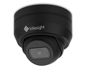 Milesight mini vandal dome kamera med variabel zoom, 5,0MP sort