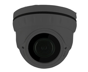 Eyeball dome IP-kamera, 4,0MP, 2,7-13,5mm AF, 30m IR, IP66, Grå med bagdåse